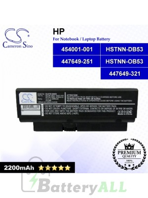 CS-HTB1200NB For Compaq Laptop Battery Model 447649-251 / 447649-321 / 454001-001 / HSTNN-DB53 / HSTNN-OB53
