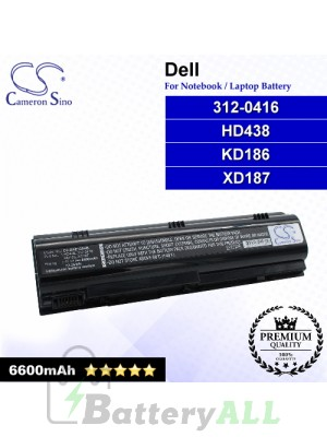 CS-DBE120HB For Dell Laptop Battery Model 312-0416 / HD438 / KD186 / XD187