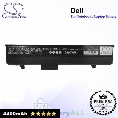 CS-DBM640 For Dell Laptop Battery Model 0C9551 / 0C9553 / 0C9554 / 0CC154 / 0CC156 / 0DC224 / 0FC141 / 0TC023
