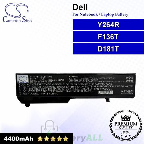 CS-DE1320NB For Dell Laptop Battery Model D181T / F136T / Y264R