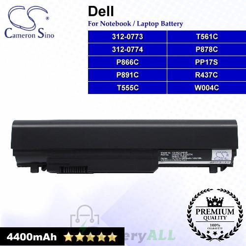 CS-DE1340NB For Dell Laptop Battery Model 312-0773 / 312-0774 / P866C / P878C / P891C / PP17S / R437C / T555C