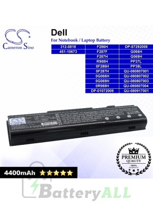 CS-DE1410NB For Dell Laptop Battery Model 0F286H / 0F287H / 0G066H / 0G069H / 0R988H / 312-0818 / 451-10673