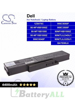 CS-DE1425NB For Dell Laptop Battery Model 1ZS070C / 906C5040F / 906C5050F 908C3500F / 90NFV6B1000Z