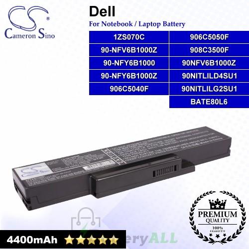 CS-DE1425NB For Dell Laptop Battery Model 1ZS070C / 906C5040F / 906C5050F 908C3500F / 90NFV6B1000Z