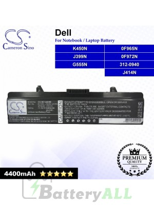 CS-DE1440NB For Dell Laptop Battery Model 0F965N / 0F972N / 312-0940 / G555N / J399N / J414N / K450N
