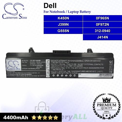 CS-DE1440NB For Dell Laptop Battery Model 0F965N / 0F972N / 312-0940 / G555N / J399N / J414N / K450N