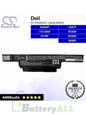 CS-DE1450NB For Dell Laptop Battery Model 0U600P / 312-4009 / N998P / P219P / U597P / W356P / W358P
