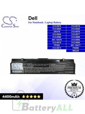CS-DE1520NB For Dell Laptop Battery Model 0DY375 / 0FK890 / 0GK479 / 0GR986 / 0GR99 / 0GR995 / 0NR222 / 0NR239
