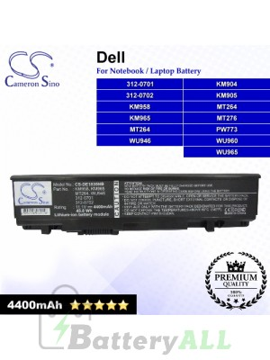 CS-DE1535NB For Dell Laptop Battery Model 0KM958 / 0KM965 / 0MT264 / 0MT275 / 0MT276 / 0MT277 / 0PW772
