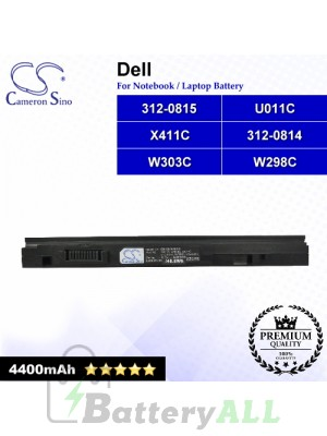 CS-DE1640NB For Dell Laptop Battery Model 312-0814 / 312-0815 / U011C / W298C / W303C / X411C