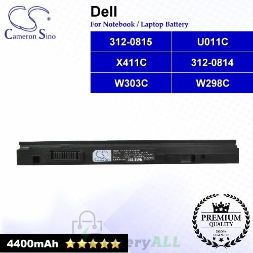 CS-DE1640NB For Dell Laptop Battery Model 312-0814 / 312-0815 / U011C / W298C / W303C / X411C