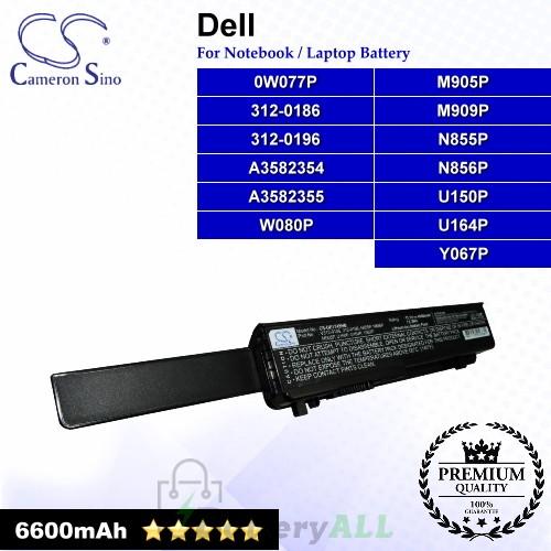 CS-DE1745HB For Dell Laptop Battery Model 0W077P / 312-0186 / 312-0196 / A3582354 / A3582355 / M905P / M909P