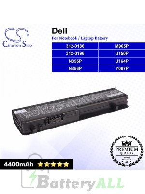 CS-DE1745NB For Dell Laptop Battery Model 312-0186 / 312-0196 / M905P / N855P / N856P / U150P / U164P / Y067P