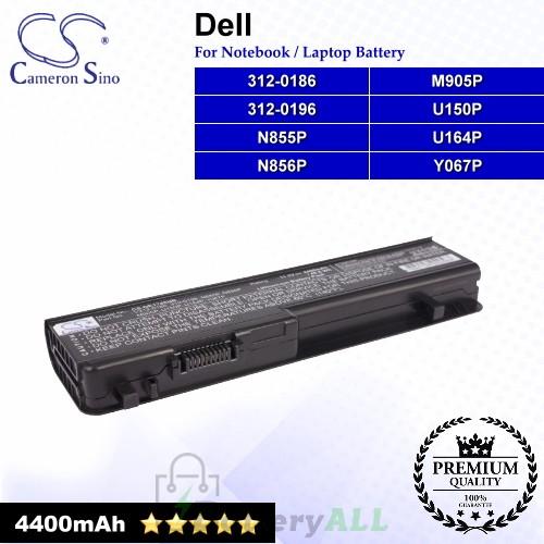 CS-DE1745NB For Dell Laptop Battery Model 312-0186 / 312-0196 / M905P / N855P / N856P / U150P / U164P / Y067P