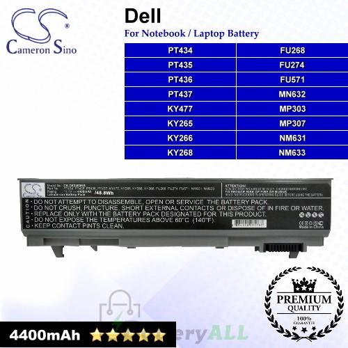 CS-DE2400NB For Dell Laptop Battery Model 0GU715 / 0H1391 / 0MP307 / 0P018K / 0RG049 / 0TX283 / 0W0X4F