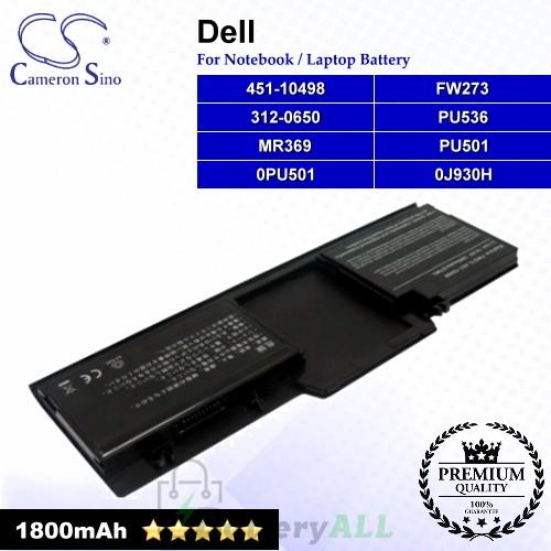 CS-DE273NB For Dell Laptop Battery Model 312-0650 / 451-10498 / FW273