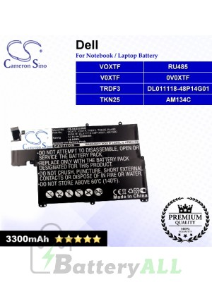 CS-DE5323NB For Dell Laptop Battery Model 0V0XTF / AM134C / DL011118-48P14G01 / RU485 / TKN25 / TRDF3 / V0XTF / VOXTF