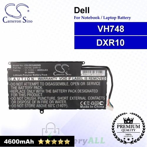 CS-DE5460NB For Dell Laptop Battery Model DXR10 / VH748