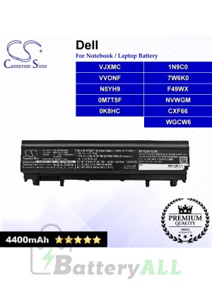 CS-DE5540NB For Dell Laptop Battery Model 0K8HC / 0M7T5F / 1N9C0 / 7W6K0 / CXF66 / F49WX / N5YH9 / NVWGM