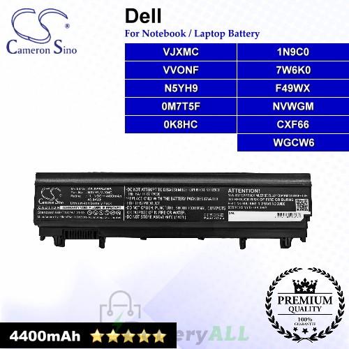 CS-DE5540NB For Dell Laptop Battery Model 0K8HC / 0M7T5F / 1N9C0 / 7W6K0 / CXF66 / F49WX / N5YH9 / NVWGM