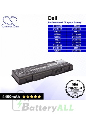 CS-DE6000 For Dell Laptop Battery Model 310-6321 / 310-6322 / 312-0339 / 312-0340 / 312-0348 / 312-0349 / 312-0350