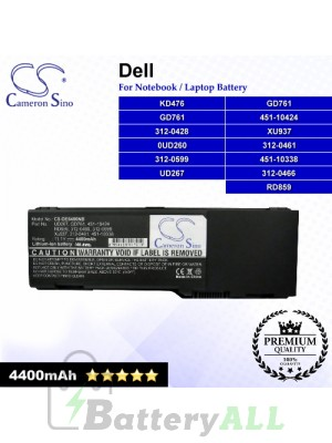 CS-DE6400NB For Dell Laptop Battery Model 0UD260 / 312-0428 / 312-0461 / 312-0466 / 312-0599 / 451-10338