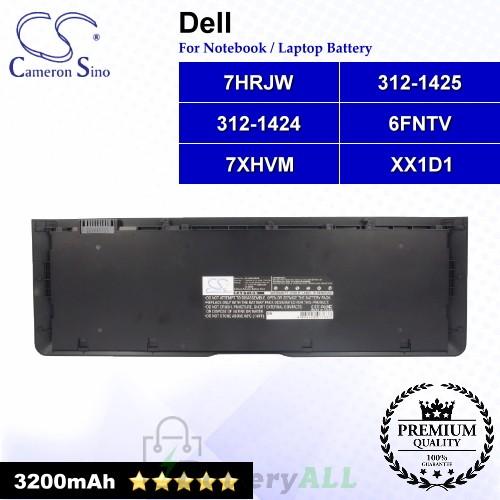 CS-DE6430NB For Dell Laptop Battery Model 312-1424 / 312-1425 / 6FNTV / 7HRJW / 7XHVM / 9KGF8 / TRM4D