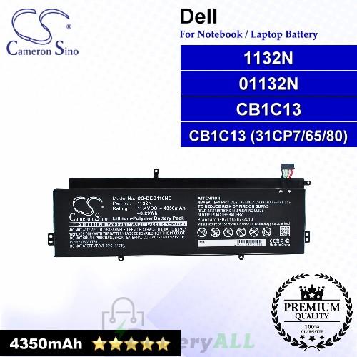CS-DEC110NB For Dell Laptop Battery Model 01132N / 1132N / CB1C13 / CB1C13 (31CP7/65/80)