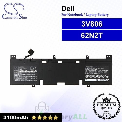 CS-DEC130NB For Dell Laptop Battery Model 3V806 / 62N2T