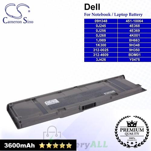 CS-DEC400HB For Dell Laptop Battery Model 09H348 / 0J245 / 0J256 / 0J268 / 1J989 / 1K300 / 312-0025 / 312-4609