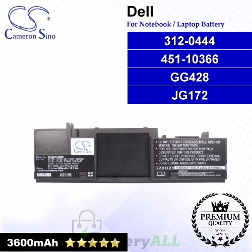 CS-DED420MB For Dell Laptop Battery Model 312-0444 / 451-10366 / GG428 / JG172