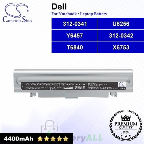 CS-DEDX1HB For Dell Laptop Battery Model 312-0341 / 312-0342 / T6840 / U6256 / X6753 / Y6457