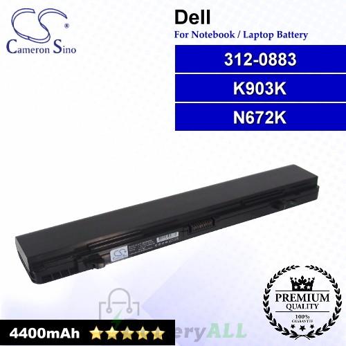 CS-DEK903NB For Dell Laptop Battery Model 312-0883 / K903K / N672K
