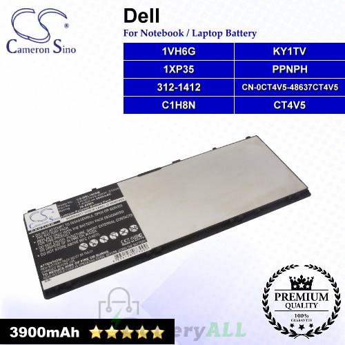 CS-DEL100NB For Dell Laptop Battery Model 1VH6G / 1XP35 / 312-1412 / C1H8N / CN-0CT4V5-48637 / CT4V5