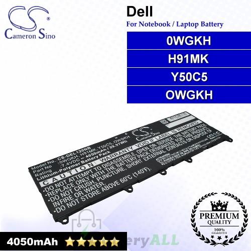 CS-DEL120NB For Dell Laptop Battery Model 0WGKH / H91MK / OWGKH / Y50C5