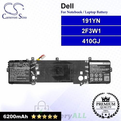 CS-DEM173NB For Dell Laptop Battery Model 191YN / 2F3W1 / 410GJ
