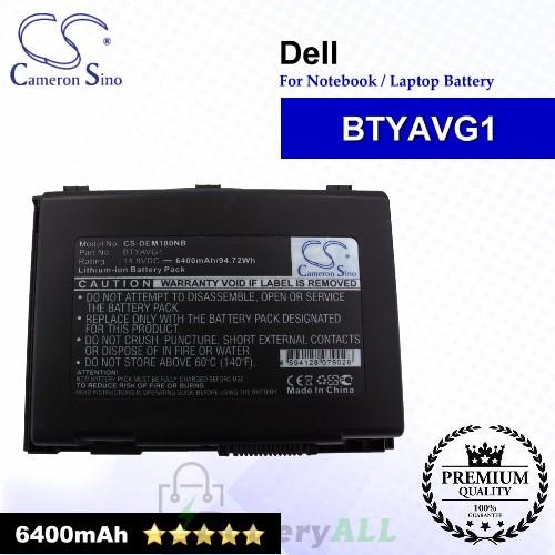 CS-DEM180NB For Dell Laptop Battery Model BTYAVG1 / X7YGK