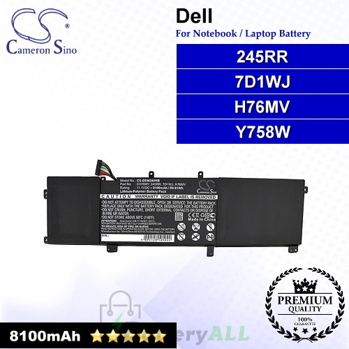 CS-DEM280NB For Dell Laptop Battery Model 0H76MY / 245RR / 7D1WJ / H76MV / M2.5X5 / Y758W
