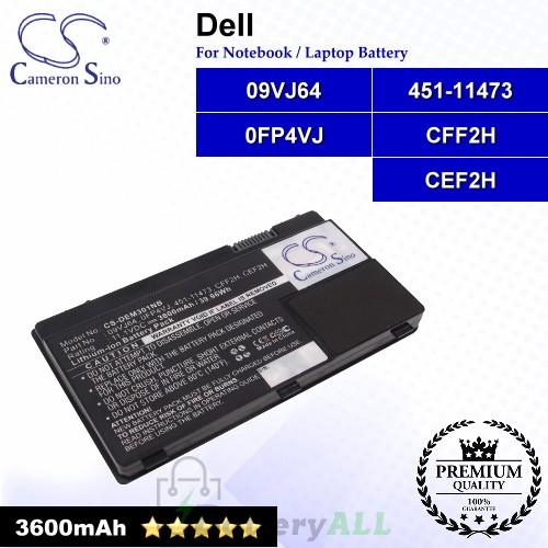 CS-DEM301NB For Dell Laptop Battery Model 09VJ64 / 0FP4VJ / 451-11473 / CEF2H / CFF2H