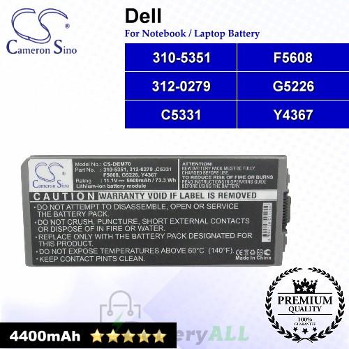CS-DEM70NB For Dell Laptop Battery Model 310-5351 / 312-0279 / C5331 / F5608 / G5226 / Y4367