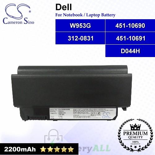CS-DEM910NB For Dell Laptop Battery Model 312-0831 / 451-10690 / 451-10691 / D044H / W953G