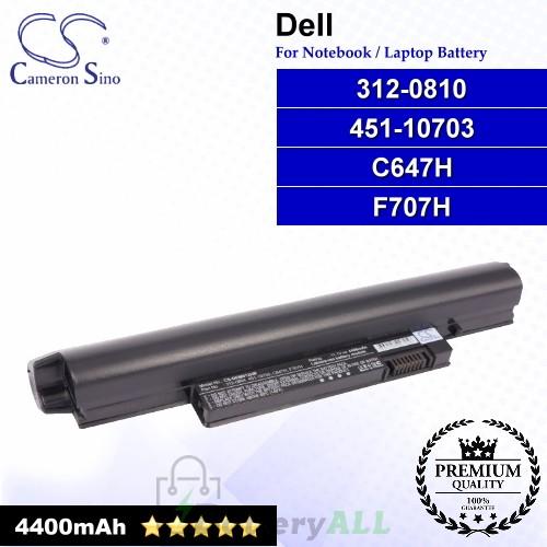 CS-DEM912HB For Dell Laptop Battery Model 312-0810 / 451-10703 / C647H / F707H