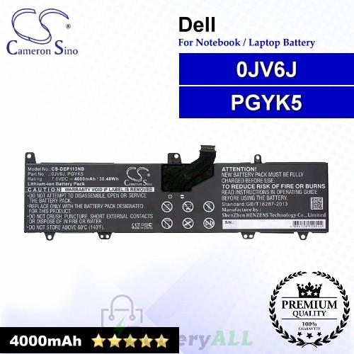 CS-DEP113NB For Dell Laptop Battery Model 0JV6J / PGYK5