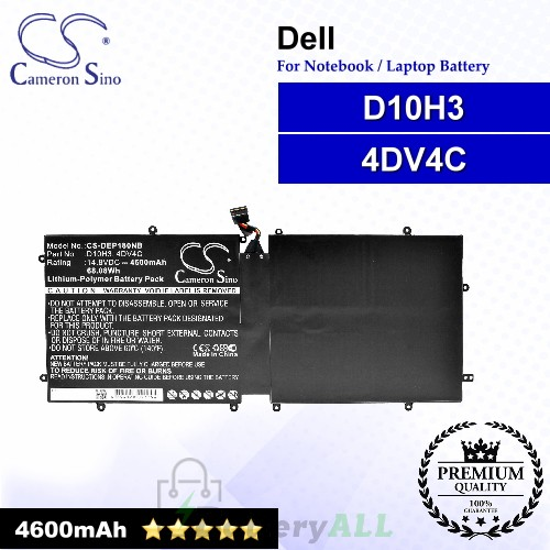 CS-DEP180NB For Dell Laptop Battery Model 4DV4C / 63FK6 / D10H3