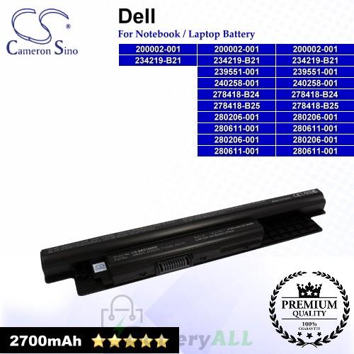 CS-DER150NB For Dell Laptop Battery Model 0MF69 / 24DRM / 312-1387 / 312-1390 / 312-1392 / 312-1433 / 49VTP