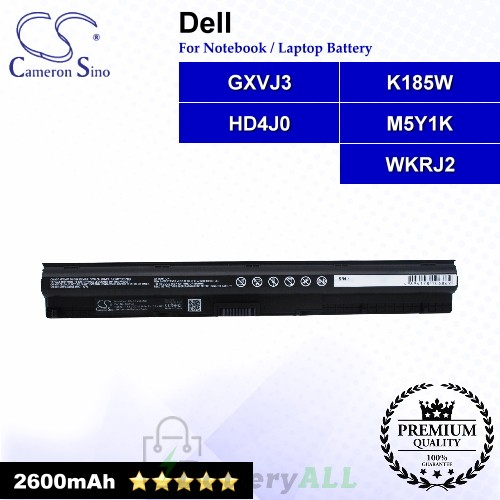 CS-DEV345NB For Dell Laptop Battery Model GXVJ3 / HD4J0 / K185W / M5Y1K / WKRJ2