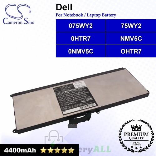 CS-DEX150NB For Dell Laptop Battery Model 075WY2 / 0HTR7 / 0NMV5C / 75WY2 / NMV5C / OHTR7