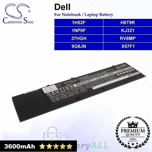 CS-DEXT30NB For Dell Laptop Battery Model 1H52F / 1NP0F / 37HGH / 9G8JN / H6T9R / KJ321 / RV8MP