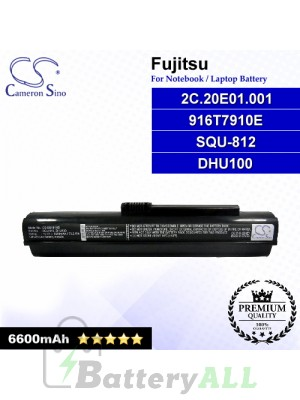 CS-BU101HB For Fujitsu Laptop Battery Model 2C.20E01.001 / 916T7910E / DHU100 / SQU-812