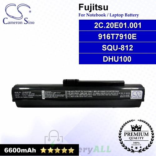CS-BU101HB For Fujitsu Laptop Battery Model 2C.20E01.001 / 916T7910E / DHU100 / SQU-812